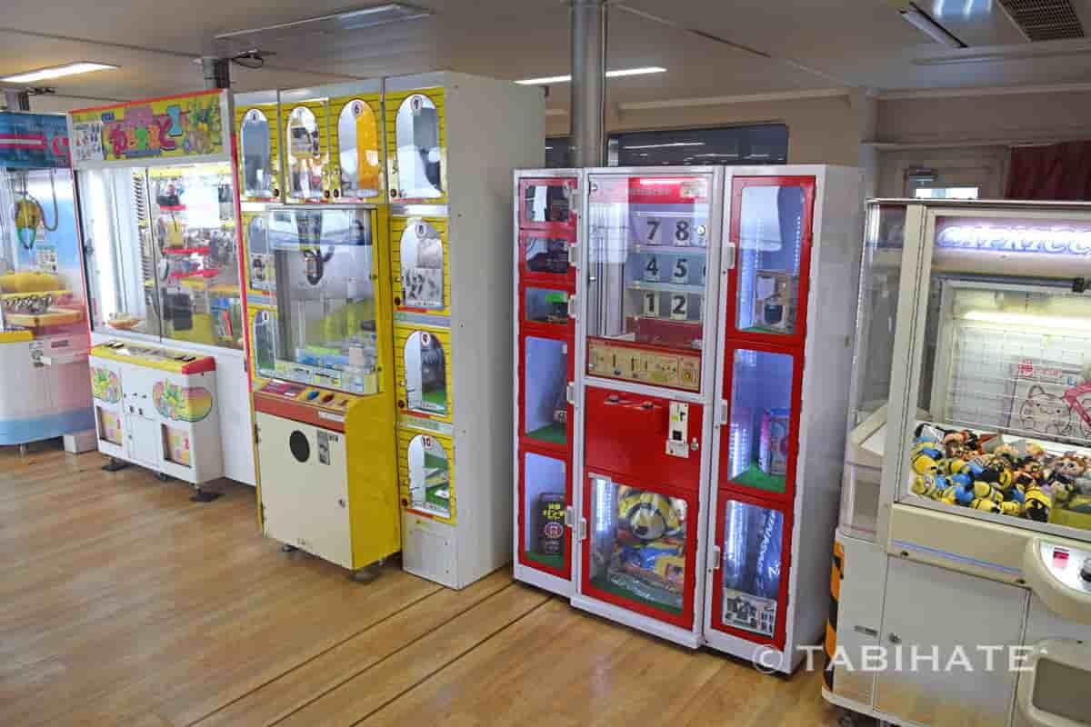 小豆島ジャンボフェリー内のゲームセンター