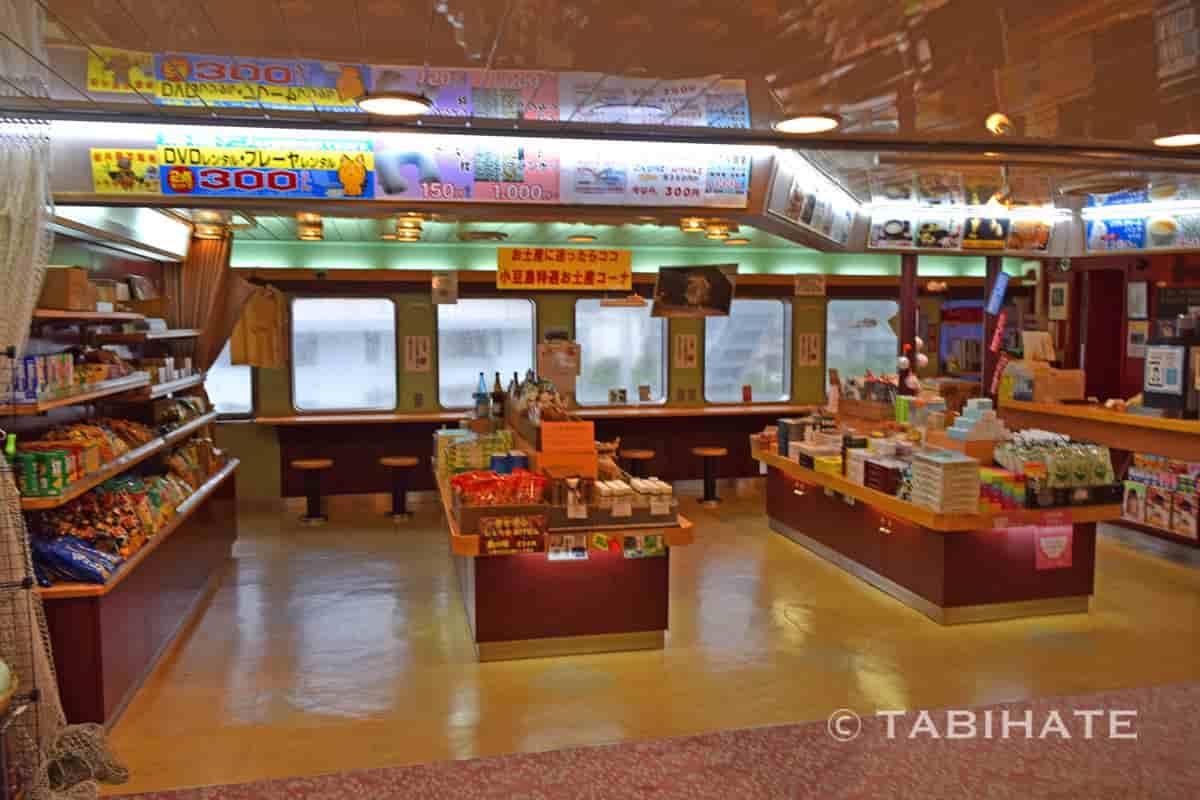 小豆島ジャンボフェリー内の売店