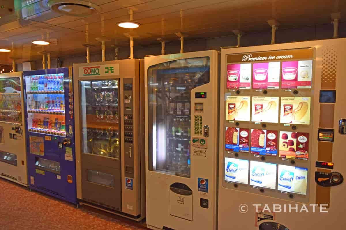小豆島ジャンボフェリー内の自動販売機