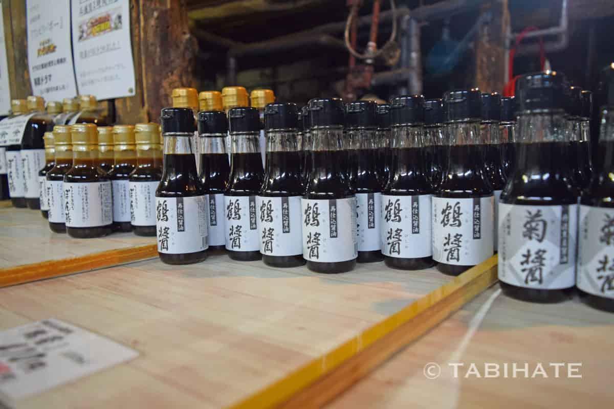 ヤマロク醤油の鶴醤と菊醤