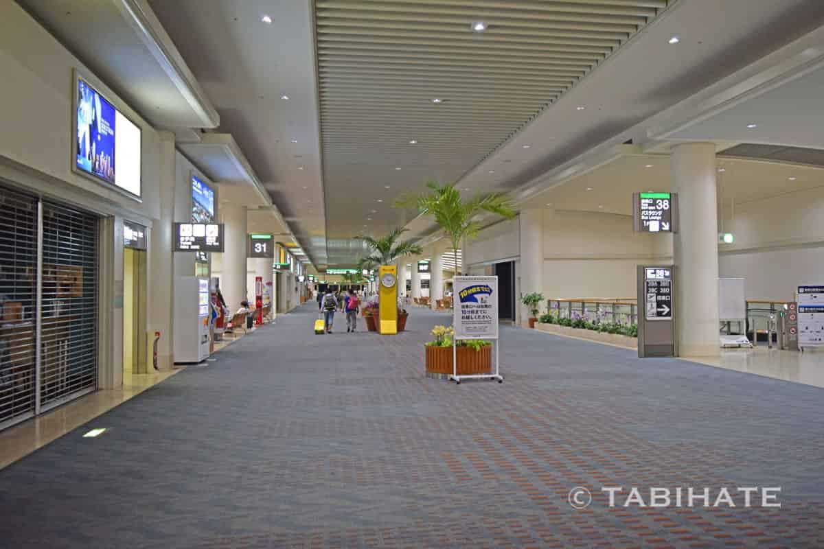 深夜の那覇空港に到着
